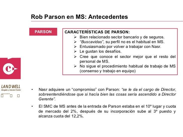 Rob Parson at Morgan Stanley B Case Study Help - Case Solution & Analysis