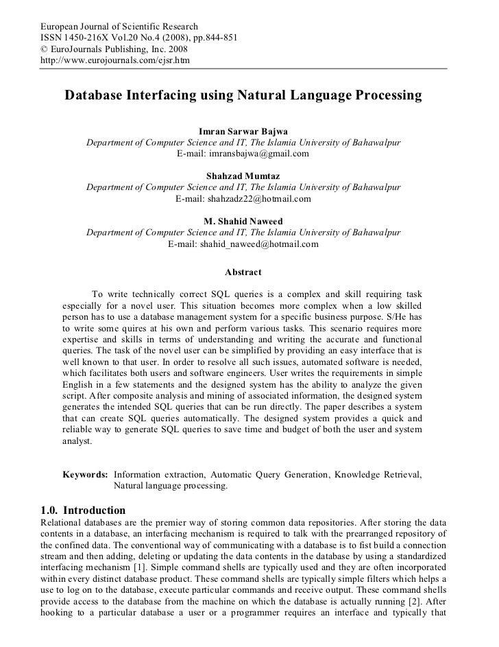 European Journal of Scientific ResearchISSN 1450-216X Vol.20 No.4 (2008), pp.844-851© EuroJournals Publishing, Inc. 2008ht...