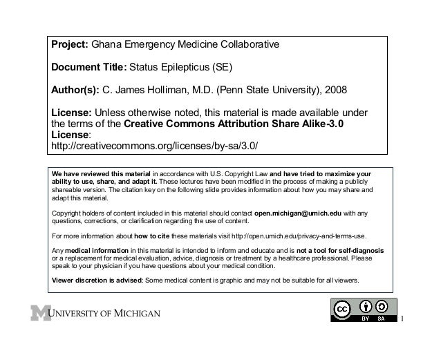 Project: Ghana Emergency Medicine Collaborative Document Title: Status Epilepticus (SE) Author(s): C. James Holliman, M.D....