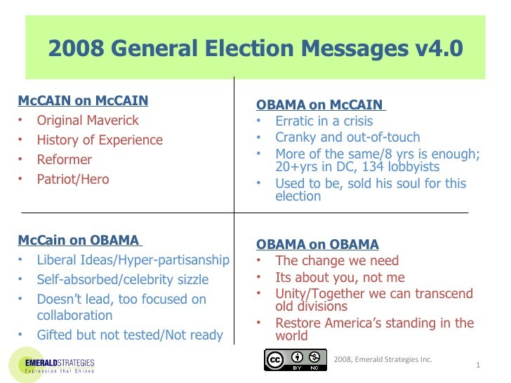 2008 General Election Messages v4.0 <ul><li>McCAIN on McCAIN </li></ul><ul><li>Original Maverick </li></ul><ul><li>History...