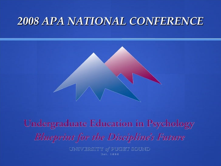 2008 APA NATIONAL CONFERENCE
