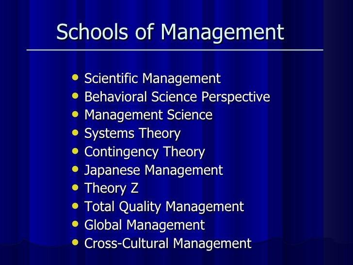 <ul><li>Scientific Management </li></ul><ul><li>Behavioral Science Perspective  </li></ul><ul><li>Management Science  </li...