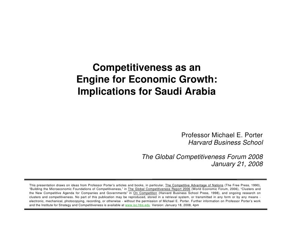 Competitiveness as an                                           Engine for Economic Growth:                               ...