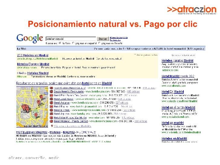 Posicionamiento natural vs. Pago por clic