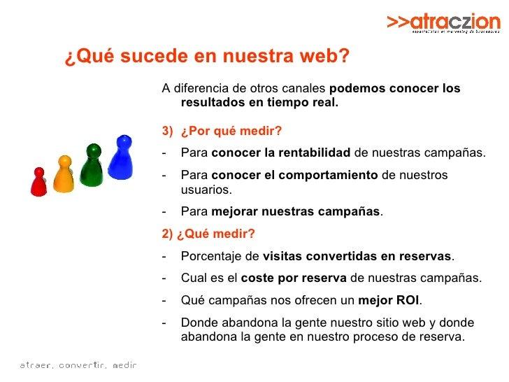 ¿Qué sucede en nuestra web? <ul><li>A diferencia de otros canales  podemos conocer los resultados en tiempo real.   </li><...