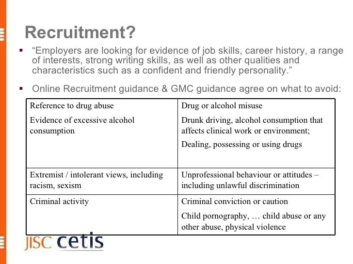 """Recruitment?  """"Employers are looking for evidence of job skills, career history, a range   of interests, strong writing s..."""