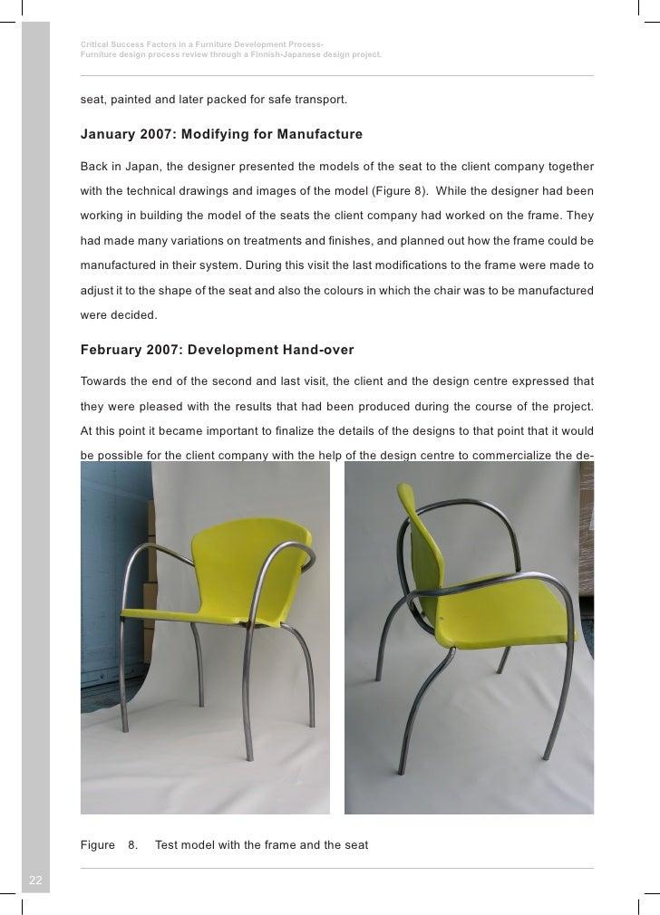 Furniture Design Process critical success factors in a furniture development process