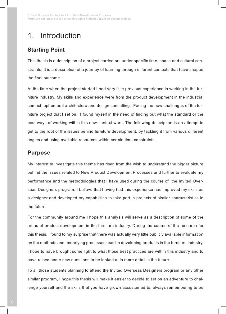product development process thesis Items 28 - 34  this thesis is submitted to dublin city university as the fulfilment of the   organisational structure, product development process design, types of.