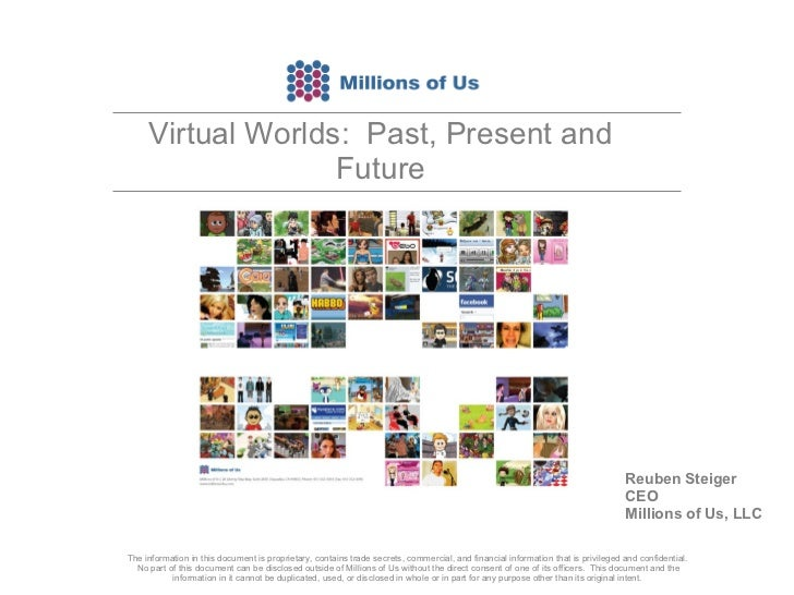 Virtual Worlds:  Past, Present and Future The information in this document is proprietary, contains trade secrets, commerc...