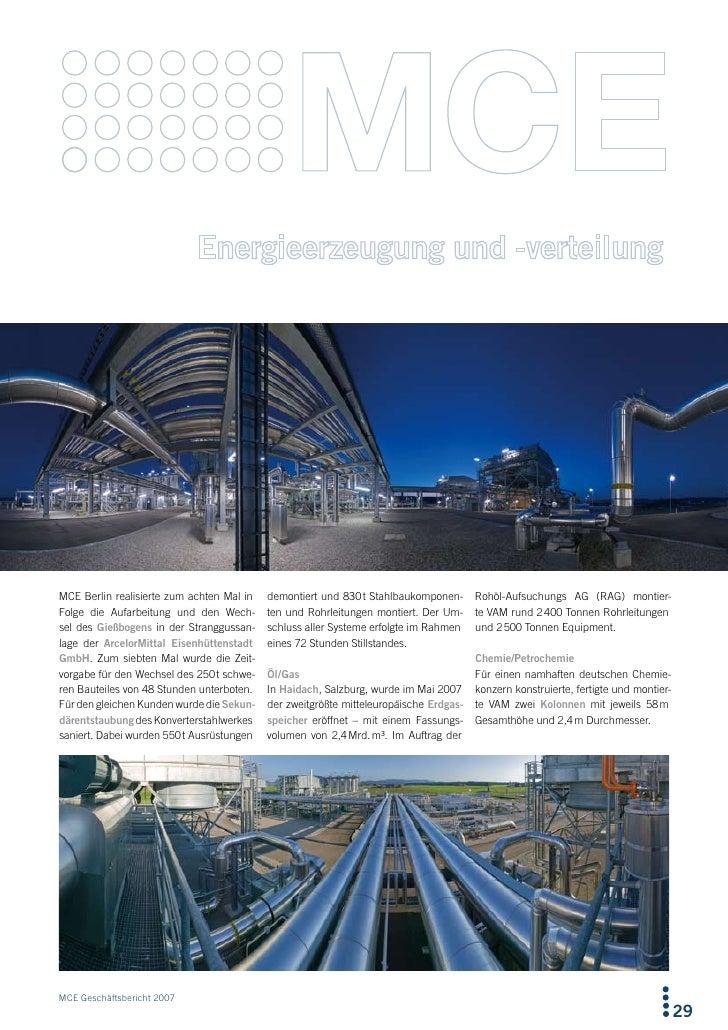 MCE Berlin realisierte zum achten Mal in   demontiert und 830 t Stahlbaukomponen-      Rohöl-Aufsuchungs AG (RAG) montier-...