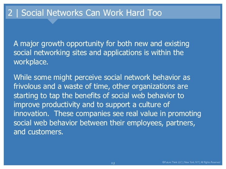 2 | Social Networks Can Work Hard Too <ul><li>A major growth opportunity for both new and existing social networking sites...