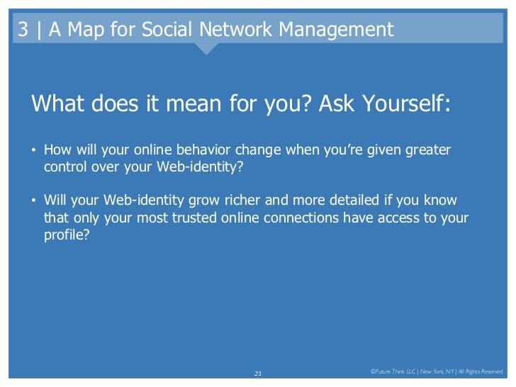 3 | A Map for Social Network Management <ul><li>What does it mean for you? Ask Yourself: </li></ul><ul><li>How will your o...
