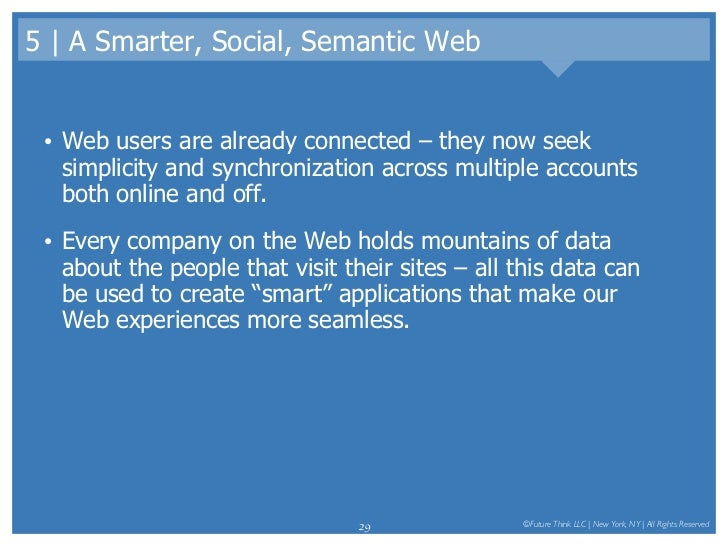 5 | A Smarter, Social, Semantic Web <ul><li>Web users are already connected – they now seek simplicity and synchronization...