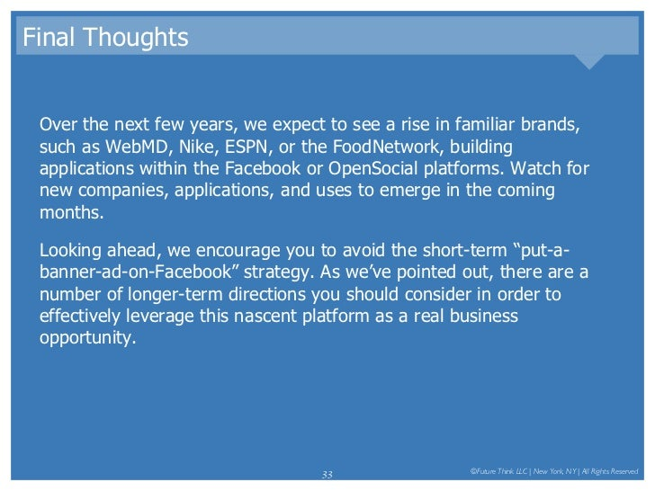 Final Thoughts <ul><li>Over the next few years, we expect to see a rise in familiar brands, such as WebMD, Nike, ESPN, or ...