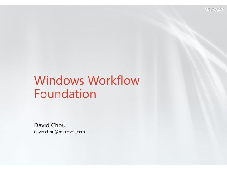 windows workflow foundation thesis