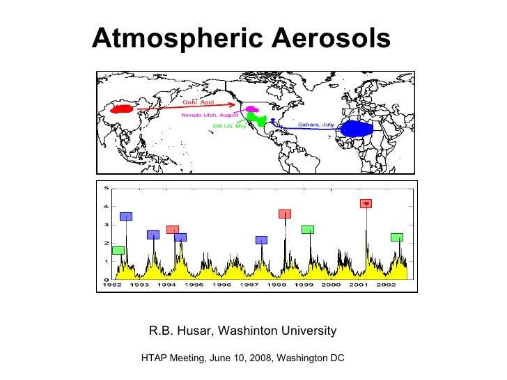 Atmospheric Aerosols   R.B. Husar, Washinton University HTAP Meeting, June 10, 2008, Washington DC