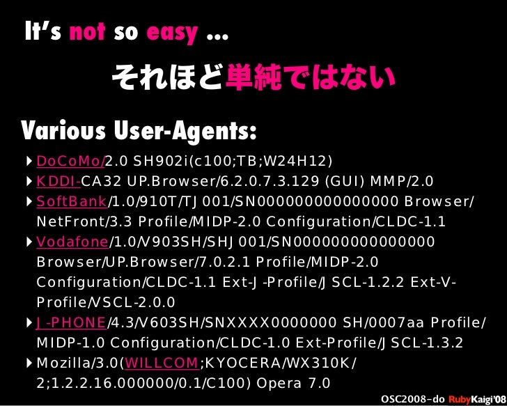 œ { Œ ^ C g Ł œ {Ruby c2008 S f [ ^ œ { Œ ^ C g ¨ œ { Œ ^ C g Ł œ { Œ ^ C g ¨ OSC2008-do ‣ DoCoMo/2.0 SH902i(c100;TB;W24H1...