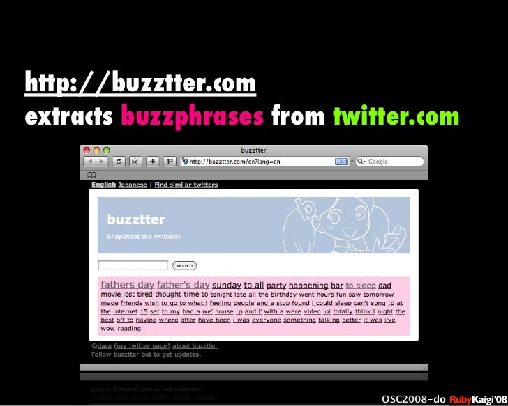 œ { Œ ^ C g Ł œ {Ruby c2008 S f [ ^ œ { Œ ^ C g ¨ œ { Œ ^ C g Ł œ { Œ ^ C g ¨ OSC2008-do http://buzztter.com extracts buzz...