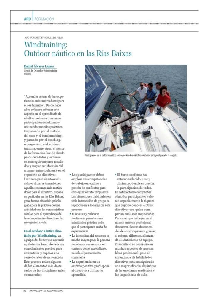 Windtraining: Outdoor naútico en las Rías Baixas