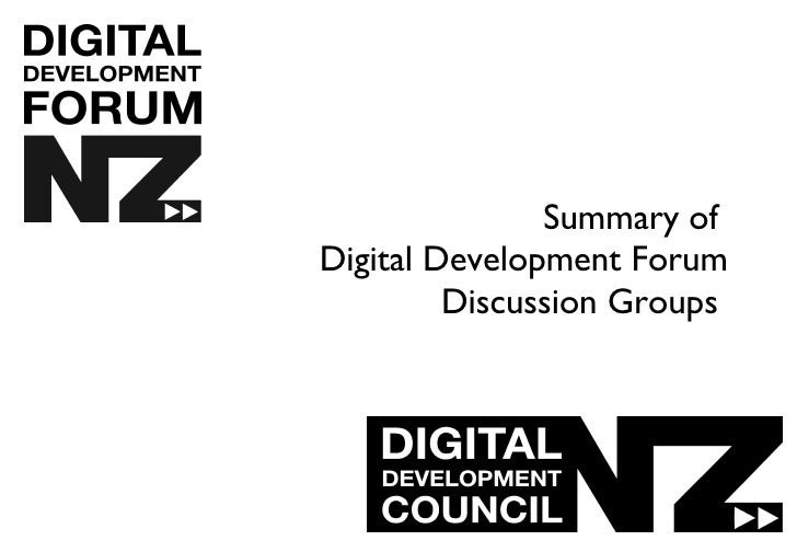 Summary of   Digital Development Forum Discussion Groups