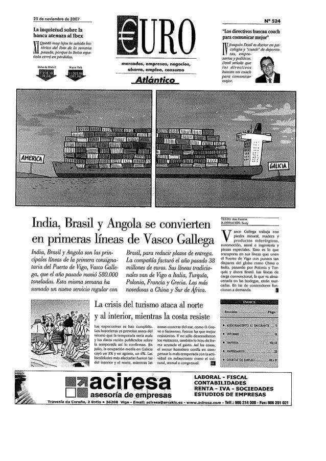 Entrevista J. Dosil en Euro (Atlántico)