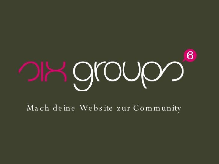 Mach deine Website zur Community