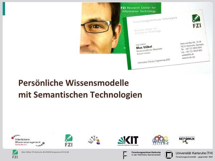 Persönliche Wissensmodelle mit Semantischen Technologien