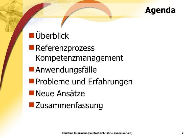 Kompetenzmanagement: Anspruch und Wirklichkeit Slide 2