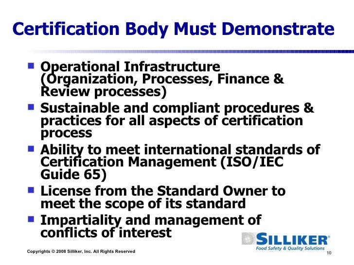 GFSI: Ensuring Safety Through Certification -- Silliker