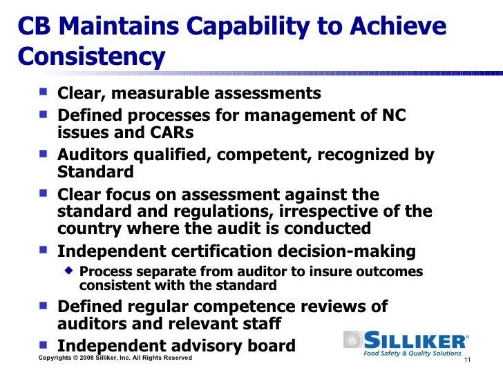 GFSI: Ensuring Safety Through Certification -- Silliker