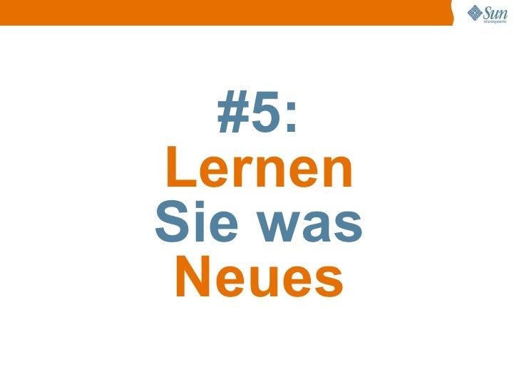 #5: Lernen Sie was Neues
