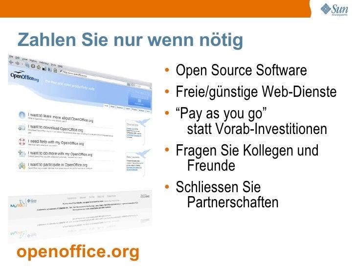 Zahlen Sie nur wenn nötig                  • Open Source Software                  • Freie/günstige Web-Dienste           ...