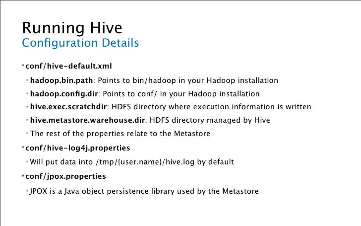 Populating Hive MovieLens Data ▪   <cd into your hive directory> ▪   wget http://www.grouplens.org/system/files/ml-data.tar...
