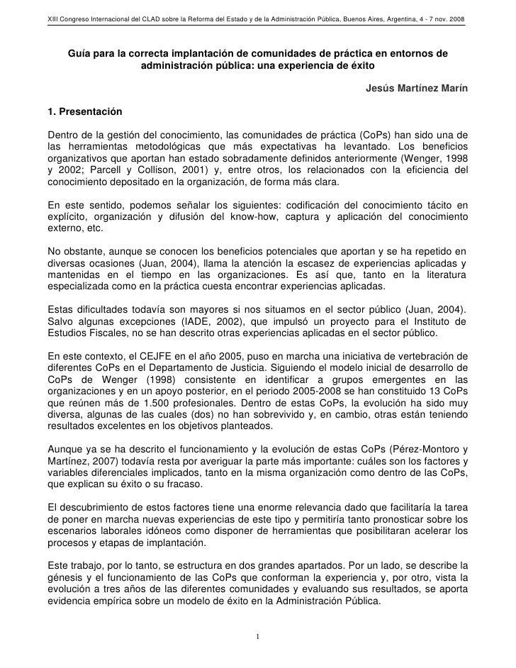 XIII Congreso Internacional del CLAD sobre la Reforma del Estado y de la Administración Pública, Buenos Aires, Argentina, ...