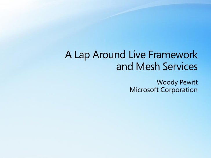 A Lap Around The Mesh Services Woodyp
