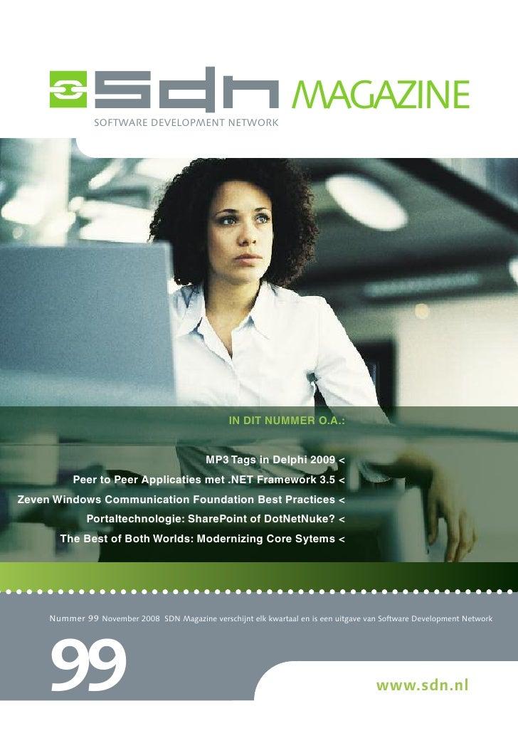 SOFTWARE DEVELOPMENT NETWORK                                                                  MAGAZINE                    ...