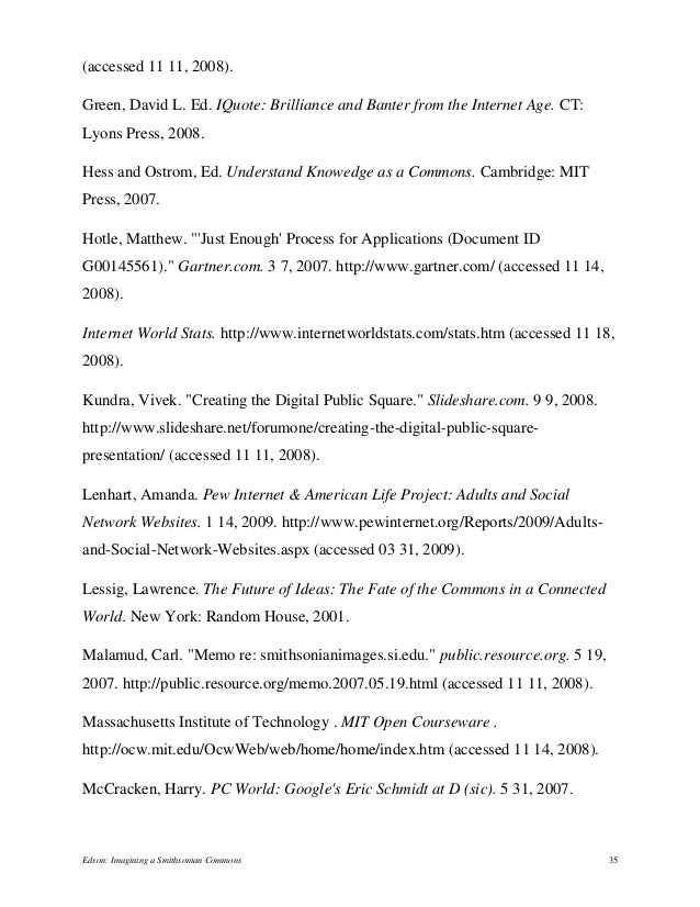 (accessed 11 11, 2008). Green, David L. Ed. IQuote: Brilliance and Banter from the Internet Age. CT: Lyons Press, 2008. He...