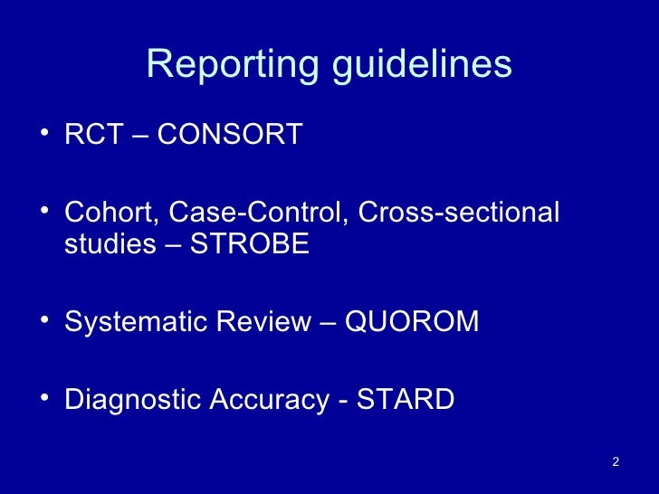 strobe guidelines for case control studies