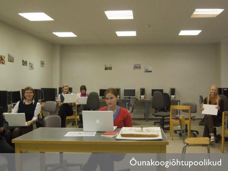 Praktilised sessioonid •   17.00–17.30 paralleelsessioonid      •   GPS ja õuesõpe - 304      •   VIKO õpikeskkond - 303  ...