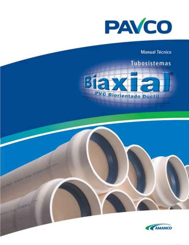 Tubosistemas para Acueducto BIAXIAL® de PAVCO Indice General Tubosistemas BIAXIAL® de PAVCO ................................