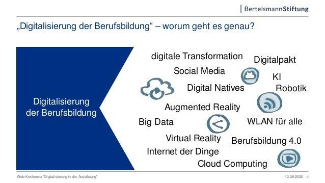 """""""Digitalisierung der Berufsbildung"""" – worum geht es genau? 12.08.2020Web-Konferenz """"Digitalisierung in der Ausbildung"""" Ber..."""