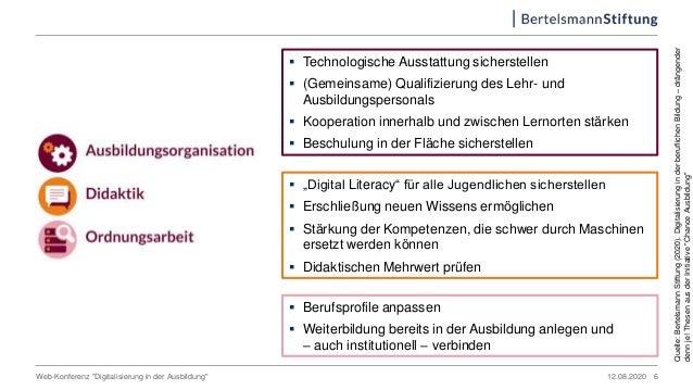  Technologische Ausstattung sicherstellen  (Gemeinsame) Qualifizierung des Lehr- und Ausbildungspersonals  Kooperation ...