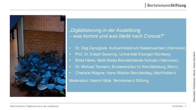 """12.08.2020Web-Konferenz """"Digitalisierung in der Ausbildung"""" """"Digitalisierung in der Ausbildung – was kommt und was bleibt ..."""