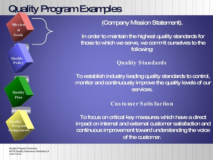 Quality Program Overview