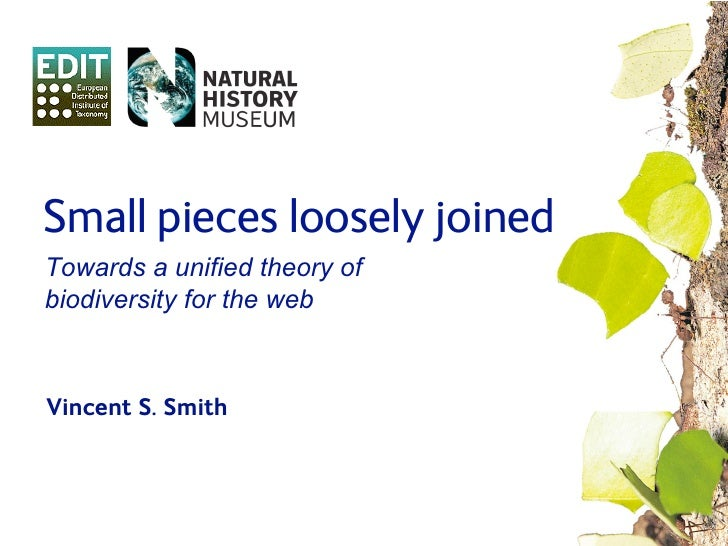 Small pieces loosely joined Towards a unified theory of biodiversity for the web    Vincent S. Smith