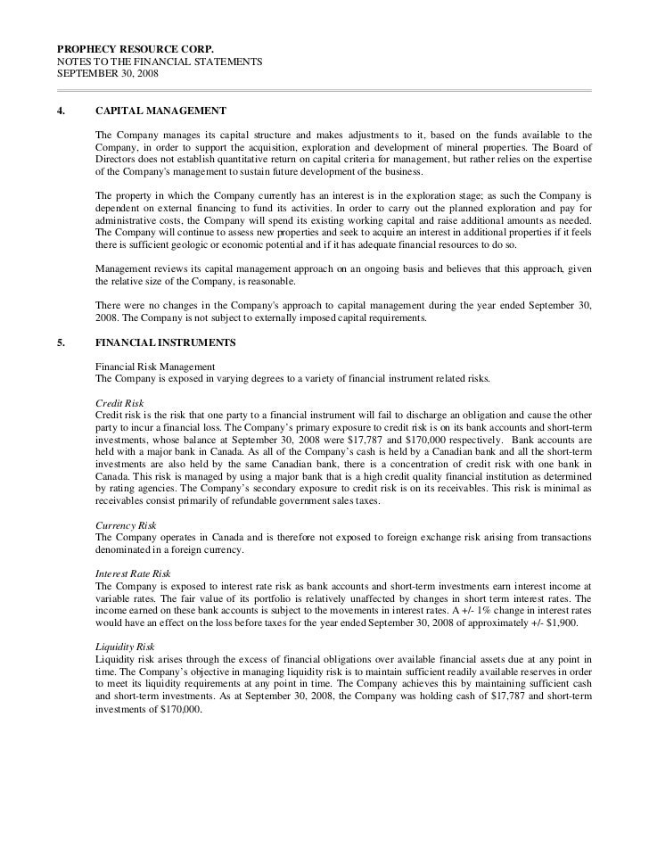 PROPHECY RESOURCE CORP.NOTES TO THE FINANCIAL STATEMENTSSEPTEMBER 30, 20086.      MINERAL PROPERTY                        ...