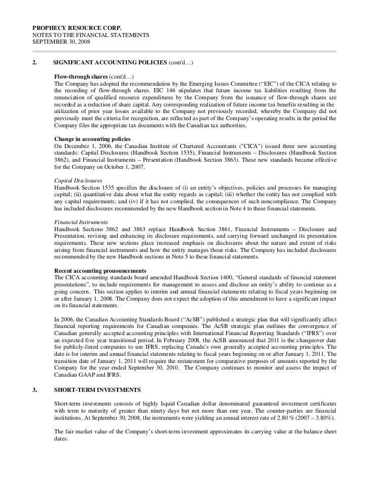 PROPHECY RESOURCE CORP.NOTES TO THE FINANCIAL STATEMENTSSEPTEMBER 30, 20084.    CAPITAL MANAGEMENT      The Company manage...