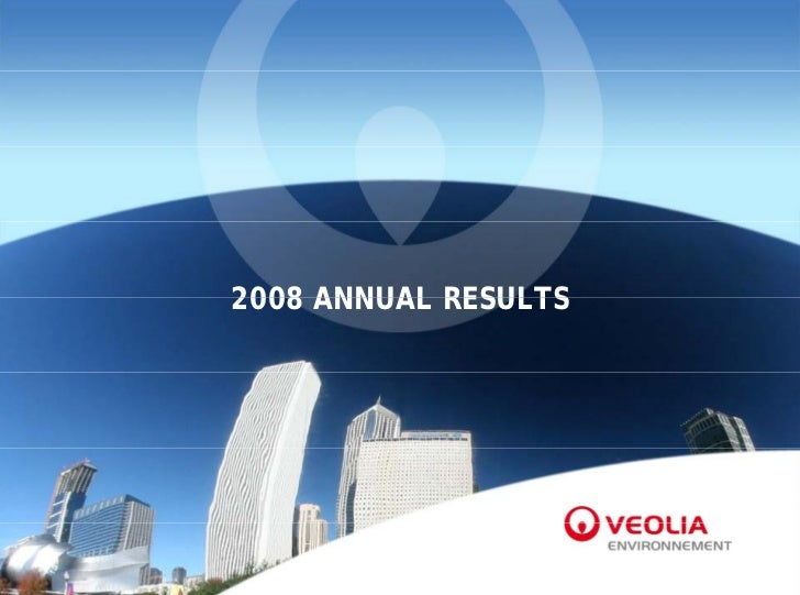 2008 ANNUAL RESULTS