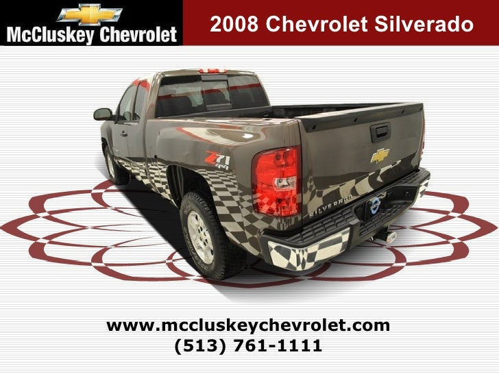 Mccluskey Chevrolet Kings Auto Mall >> Used 2008 Chevrolet Silverado 1500 LT Pickup Truck at your Chevy Cinc…