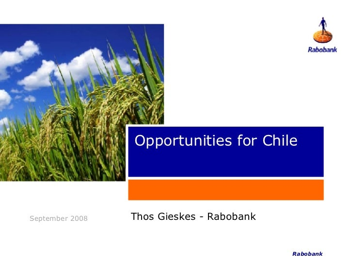 Opportunities for Chile Thos Gieskes - Rabobank